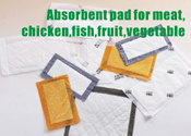 Absorbent pad for meat, chicken,fish,fruit,vegetable