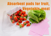 DMPAD-Y1 Absorbent pads for fruit,Vegetable,meat